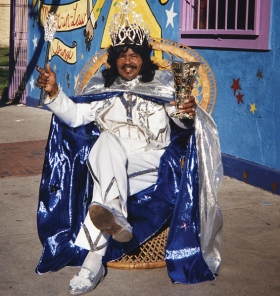 Emperor Ernie K-Doe at his Mother-In-Law Lounge; New Orleans